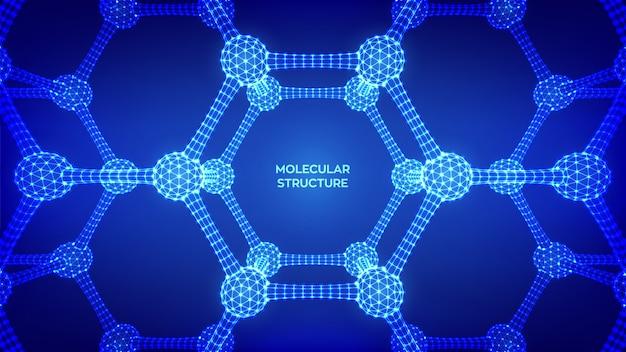 Molecular structure.  scientific molecule background. dna, atom, neurons. molecules and chemical formulas.