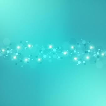 분자 구조 또는 dna 가닥