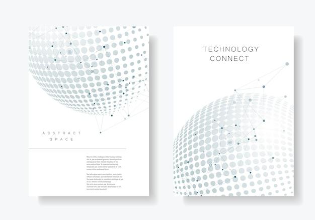 Set of minimalistic shapes. halftone black spheres