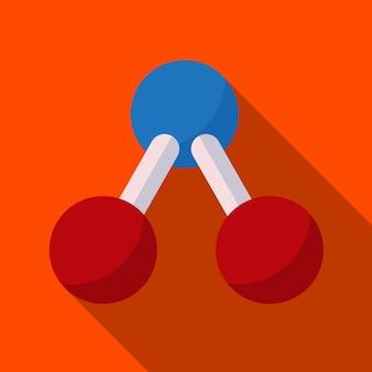 분자 평면 아이콘 일러스트 절연된 벡터 기호