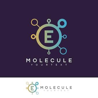 분자 초기 문자 e 로고 디자인