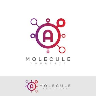 Molecule initial letter a logo design
