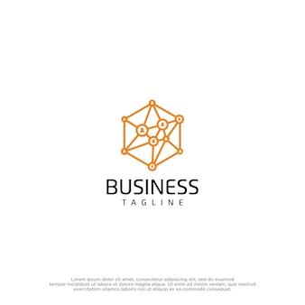 Molecule logo design template
