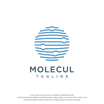 분자 로고 디자인 서식 파일