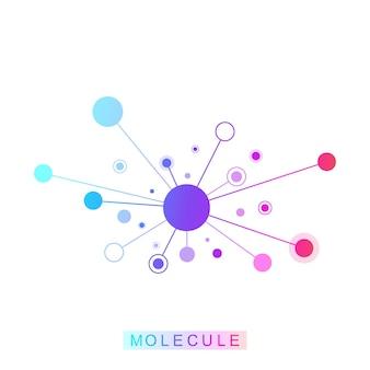 분자 로고 템플릿 아이콘, 과학 유전학 로고, dna 나선. 유전자 분석, 연구 생명 공학 코드 dna, 분자. 생명 공학 게놈 염색체. 벡터 일러스트 레이 션
