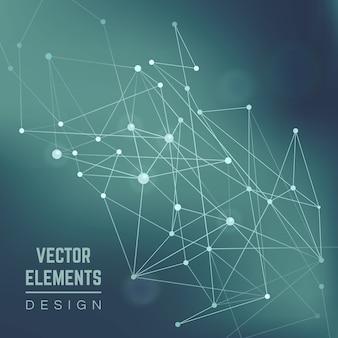 Строение молекулы. связь химии, науки и исследований, иллюстрации технологий. абстрактный векторный фон