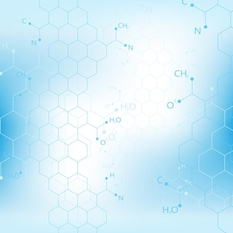 과학, 화학, 생물학, 의학, 기술의 분자 구조 dna 개념