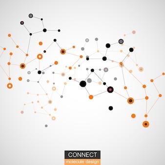 Molecule structure vector illustration background