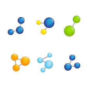 분자 기호 로고 템플릿 벡터 일러스트 디자인