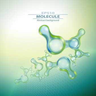 Molecules background design