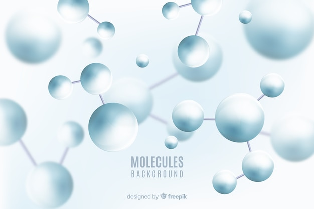 Molecules blurred background