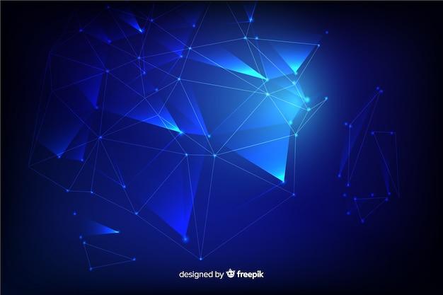 Molecules blurred background
