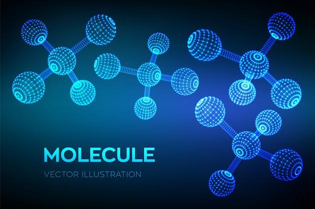 Molecules and chemical formulas.