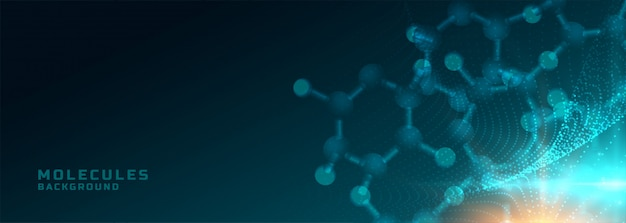 Molecules structure medical science and healthcare background banner