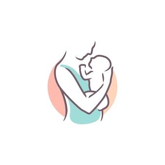 엄마와 아기 로고