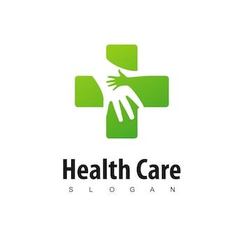 Mom and baby hospital logo design template