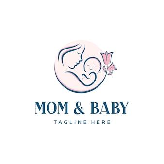 Mom and baby logo design
