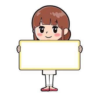 アウトラインエプロンmom_board-holding