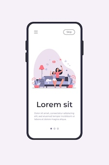 Mom and daughter leisure concept. teen girl and her mother sitting on couch at home, using smartphone for video call or taking selfie. can be used for family, mobile technology topics