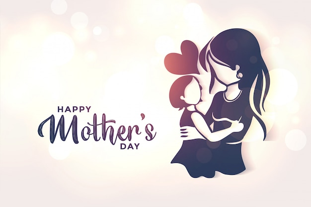 Mom and daughter love background for mothers day