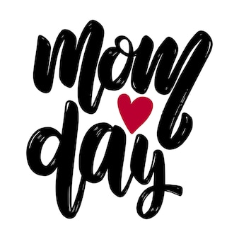 Mom day text. vector lettering phrase for poster, greeting card, postcard. mother day concept