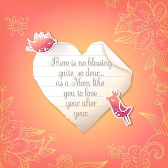 Mom quote background