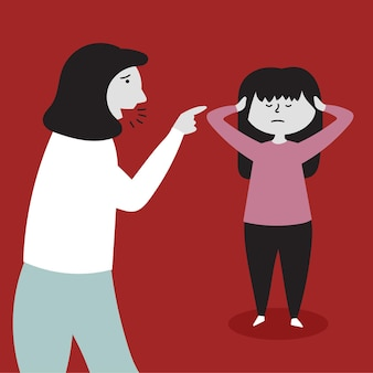 Mom yells daughter child abuse