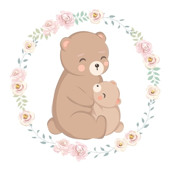 Mommy bear and baby bear
