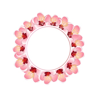 Momo peach flower blossom banner wreath