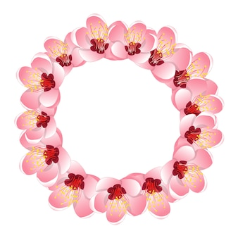 Momo peach flower blossom wreath