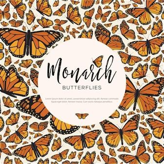 Monarch butterflies texture - copy space template