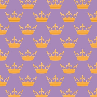 Monarchical crown icon pattern