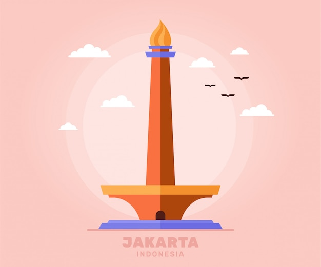 Монас джакарта туризм праздник путешествия индонезии
