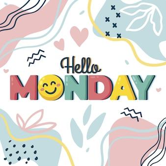 Понедельник фон с сердечками и формами