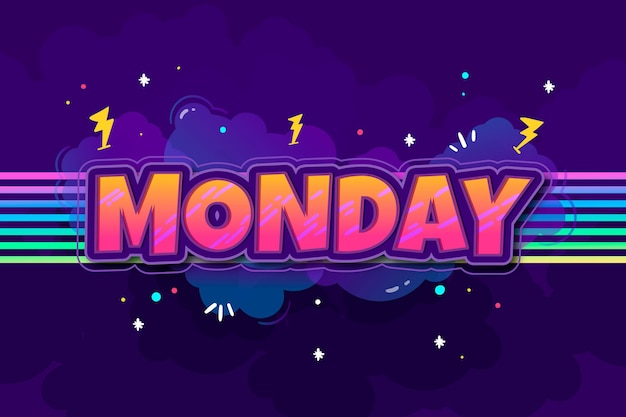 월요일-배경