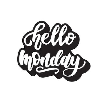 Monday lettering design