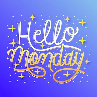 Lunedì - lettering