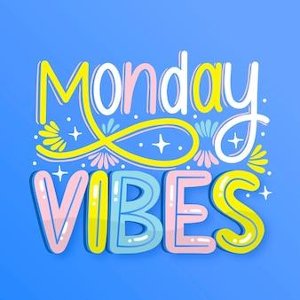 Понедельник - надпись