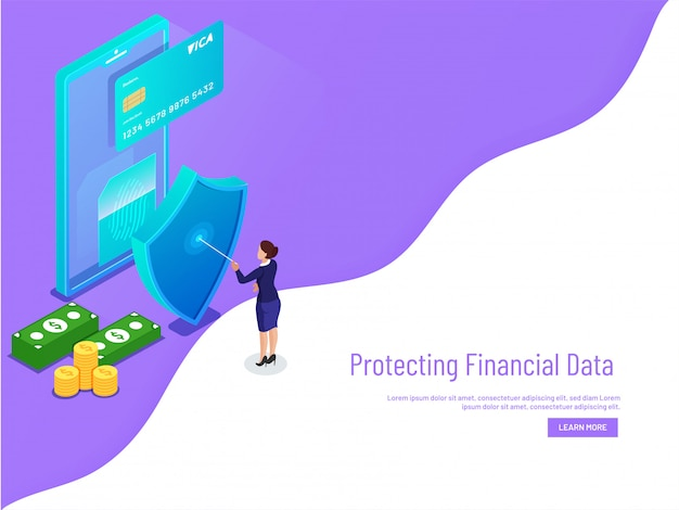 Monetary data protection with biometric.