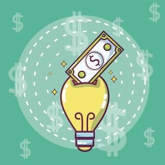 お金とビジネスのアイデアコンセプト