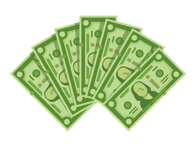 Money banknotes fan
