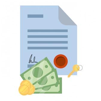 Money bills cartoon