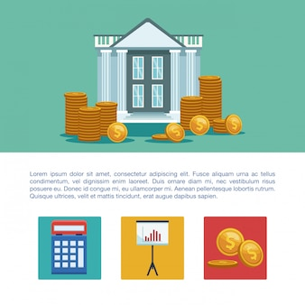Money and business infographic concept