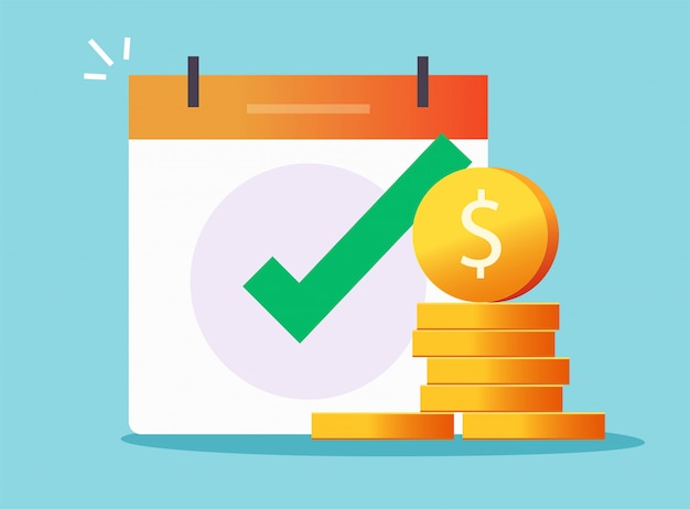 Money cash loan credit approved check mark