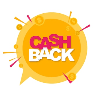 Money cashback background with gold dollar coins