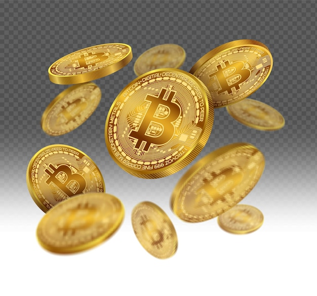 투명 한 흰색에 공중에 떠있는 돈 동전