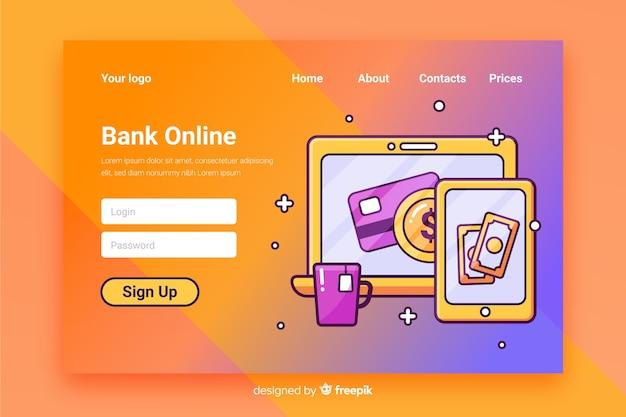 Money concept landing page