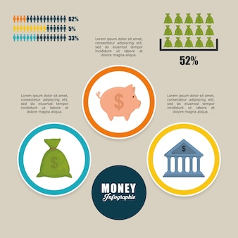 Money concept with icon design