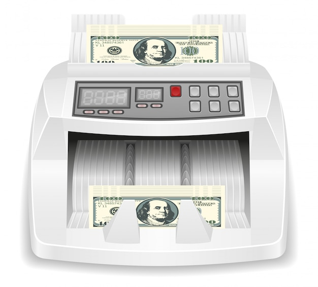 Money counter stock.