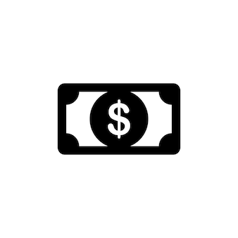 Money dollar cash icon in black. financial concept. vector eps 10. isolated on white background.